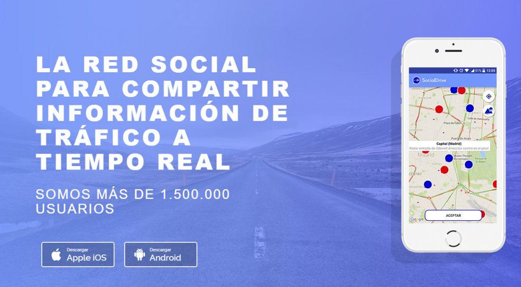 Social Drive, aplicación intercambio de información sobre el tráfico