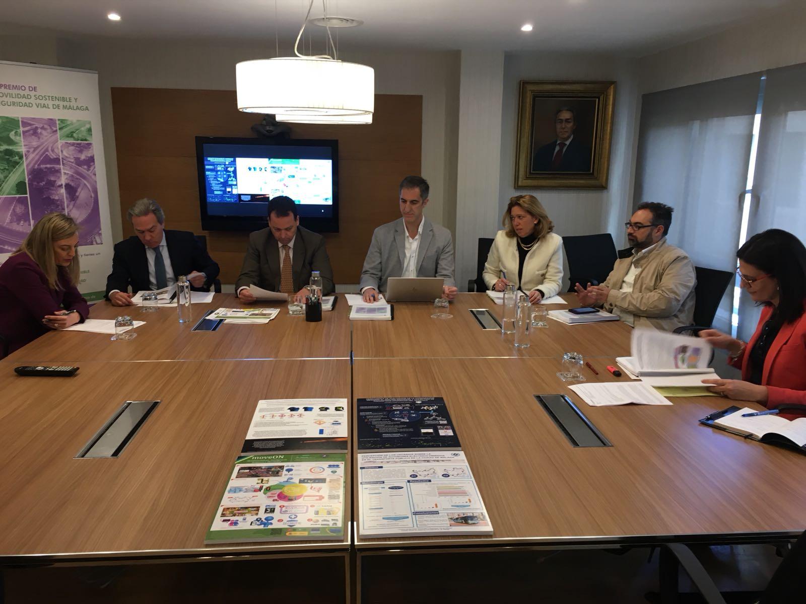 miembros del jurado I Premio de Movilidad Sostenible y Seguridad Vial de Málaga