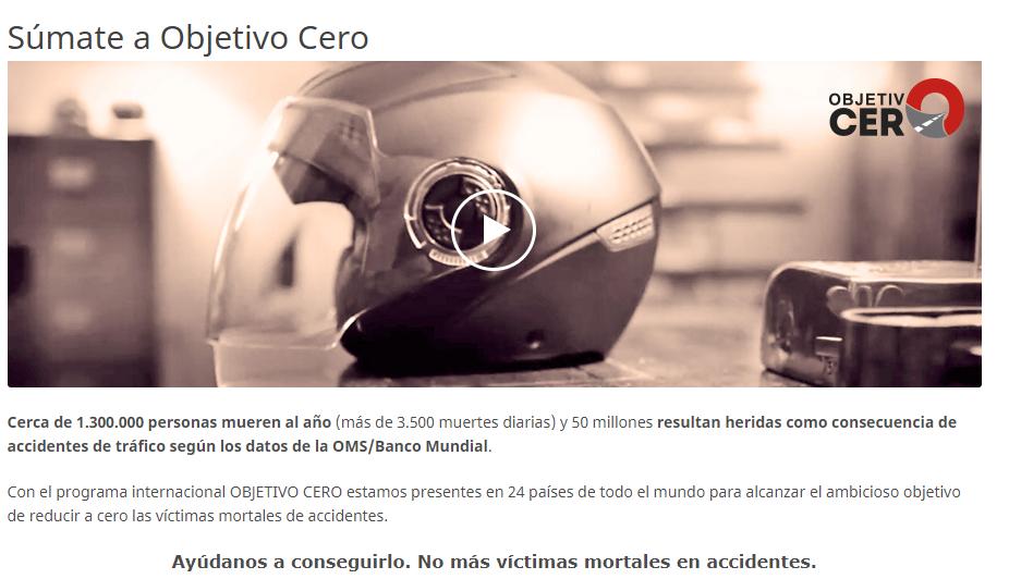 """Programa """"Objetivo Cero Víctimas"""" Fundación Mapfre"""